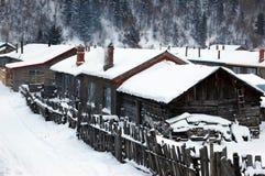 χιονώδης χειμώνας vallige Στοκ Φωτογραφία