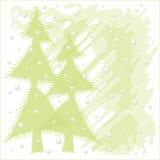 χιονώδη Χριστούγεννα νύχτας διανυσματική απεικόνιση