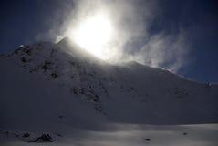 Χιονώδεις αιχμές στις ευρωπαϊκές Άλπεις Στοκ φωτογραφία με δικαίωμα ελεύθερης χρήσης