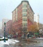 Χιονώδεις Συρακούσες Στοκ εικόνες με δικαίωμα ελεύθερης χρήσης