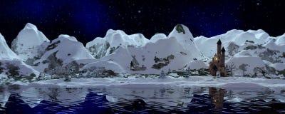 Χιονώδες έμβλημα βουνών Στοκ Εικόνα