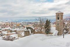 Χιονώδες αστικό τοπίο Στοκ Εικόνες