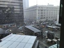 Χιονώδες Βανκούβερ Στοκ Φωτογραφίες