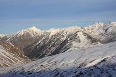 Χιονώδες βουνό σε Ariege, Πυρηναία Στοκ Εικόνες