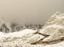 Χιονώδες βουνό Στοκ Φωτογραφίες