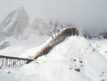 Χιονώδες βουνό Στοκ Εικόνες