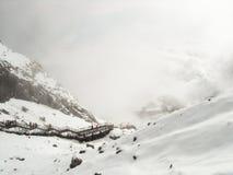 Χιονώδες βουνό Στοκ εικόνα με δικαίωμα ελεύθερης χρήσης