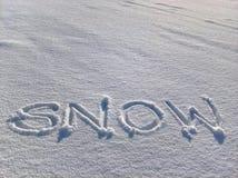 Χιονώδες γράψιμο Στοκ φωτογραφία με δικαίωμα ελεύθερης χρήσης