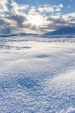 Χιονώδες ισλανδικό τοπίο Στοκ φωτογραφία με δικαίωμα ελεύθερης χρήσης