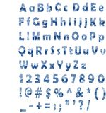 χιονώδες κείμενο Στοκ εικόνες με δικαίωμα ελεύθερης χρήσης