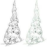 Χιονώδες κωνοφόρο διανυσματική απεικόνιση