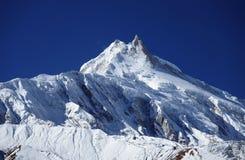 Χιονώδες μέγιστο Manaslu Στοκ εικόνα με δικαίωμα ελεύθερης χρήσης