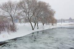 Χιονώδες Μινσκ τον Ιανουάριο Στοκ Εικόνα