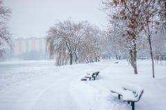 Χιονώδες Μινσκ τον Ιανουάριο Στοκ εικόνες με δικαίωμα ελεύθερης χρήσης