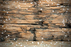 Χιονώδες ξύλινο υπόβαθρο στοκ φωτογραφία με δικαίωμα ελεύθερης χρήσης