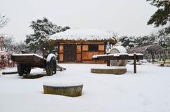 Χιονώδες πάρκο Στοκ φωτογραφία με δικαίωμα ελεύθερης χρήσης