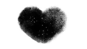 Χιονώδες παγωμένο παράθυρο καρδιών με τη μεταλλίνη Luma απόθεμα βίντεο