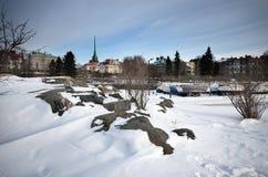 Χιονώδες πρωί Στοκ φωτογραφίες με δικαίωμα ελεύθερης χρήσης