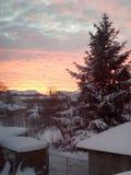 Χιονώδες πρωί 2 Στοκ Φωτογραφία