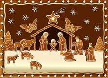 Χιονώδες σπίτι Χριστουγέννων ελεύθερη απεικόνιση δικαιώματος