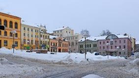 Χιονώδες τετράγωνο Στοκ Εικόνες