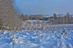 Χιονώδες τοπίο Στοκ φωτογραφίες με δικαίωμα ελεύθερης χρήσης