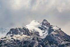 Χιονώδες τοπίο EL Chalten Αργεντινή της Παταγωνίας βουνών Στοκ φωτογραφίες με δικαίωμα ελεύθερης χρήσης