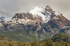 Χιονώδες τοπίο EL Chalten Αργεντινή της Παταγωνίας βουνών Στοκ Φωτογραφία