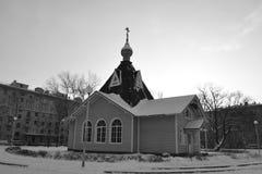 Χιονώδες χειμερινό τοπίο Στοκ Εικόνα