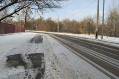 Χιονώδες χειμερινό τοπίο Στοκ εικόνες με δικαίωμα ελεύθερης χρήσης