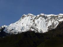 Χιονώδες Annapurna IV αιχμή Himalayan Στοκ Φωτογραφίες