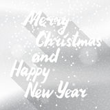 Χιονώδης άσπρη κάρτα χειμερινών διακοπών Στοκ Φωτογραφία