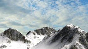 Χιονώδης αιχμή βουνών βουνών με το υπόβαθρο μπλε ουρανού Στοκ εικόνες με δικαίωμα ελεύθερης χρήσης