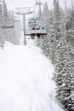 Χιονώδης ανελκυστήρας Στοκ Φωτογραφίες