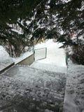 Χιονώδης ημέρα στην Αρμενία Tsaxkadzor Στοκ Φωτογραφίες