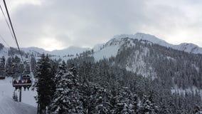 Χιονώδης ημέρα στο συριστήρα στοκ εικόνες