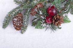 Χιονώδης διακόσμηση διακοπών Στοκ εικόνα με δικαίωμα ελεύθερης χρήσης