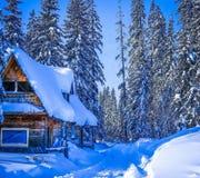 Χιονώδης και ηλιόλουστη ημέρα σε VlaÅ ¡ iÄ ‡ Στοκ Εικόνες