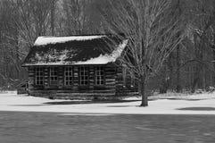 Χιονώδης καμπίνα Στοκ Φωτογραφία