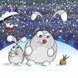 Χιονώδης νύχτα διανυσματική απεικόνιση