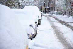 Χιονώδης οδός Στοκ Εικόνες