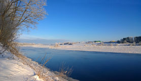 Χιονώδης ποταμός Στοκ φωτογραφίες με δικαίωμα ελεύθερης χρήσης