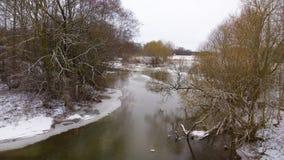 Χιονώδης ποταμός Στοκ εικόνες με δικαίωμα ελεύθερης χρήσης