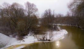 Χιονώδης ποταμός Στοκ Εικόνες