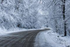 Χιονώδης δρόμος Στοκ Φωτογραφίες