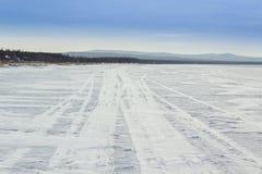 Χιονώδης δρόμος Στοκ εικόνα με δικαίωμα ελεύθερης χρήσης