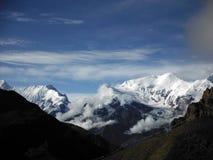 Χιονώδης σειρά Himalayan στο μουσώνα Στοκ Φωτογραφίες