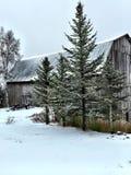 Χιονώδης σκηνή Στοκ φωτογραφίες με δικαίωμα ελεύθερης χρήσης