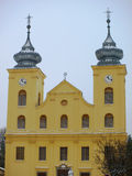 Χιονώδης στέγη της εκκλησίας στοκ φωτογραφία