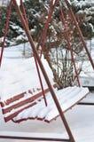 Χιονώδης ταλάντευση Στοκ εικόνα με δικαίωμα ελεύθερης χρήσης